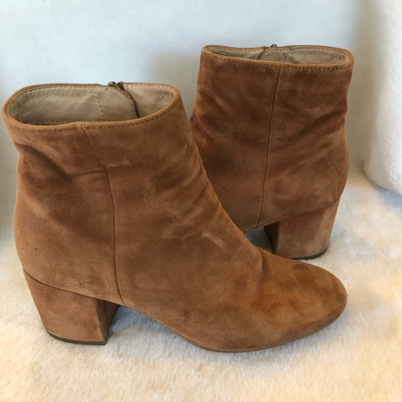4dedd9ec20412 Halogen Shoes | Nordstrom Brown Suede Block Heeled Boots 7 | Poshmark